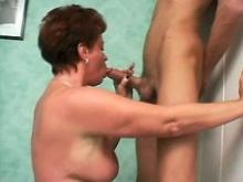 Old housewife get fucked and jizzed