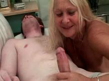 Lusty grandma get banged and facial