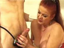 Grandma in orgy with young servants