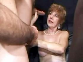 Grandma gets mouthful after IR orgy
