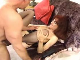 Sweet mama gets hammered and jizzed on the floor