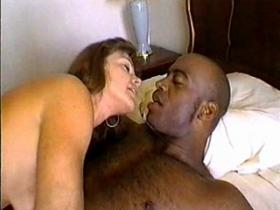 Mom in white stockings enjoys 69 oral with nigga