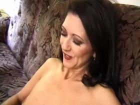 Mom in stockings slurping cum after intense fuck