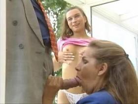 Old and young babes pleasing sex hungry lover
