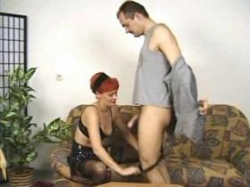 Old redhead housewife in stockings crazy fucking