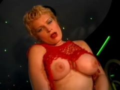 Titty blond stripper fucks brains out with client