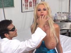 Amazing blond milf fucking her handsome doctior