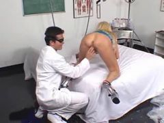 Gorgeous milf seduces her doctor and makes him cum