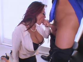 Gorgeous titty secretary gets interviewed for job