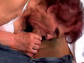 Lustful grandma has fun with young handsome doctor