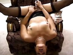 Sexy plump mom gets orgasm with toy