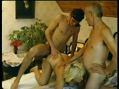 Old man watches young stud fuck his wife