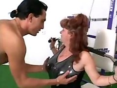 Macho drills aged mature woman